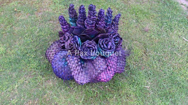 Flax flower arrangement.