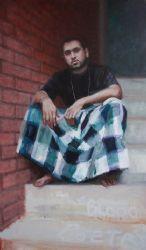 KERRY McINNIS : oil on canvas<br />150 x 100cm
