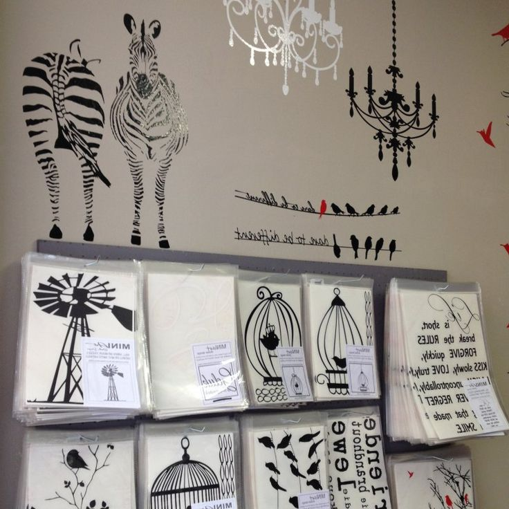 selection of vinyl wall art for giftshops