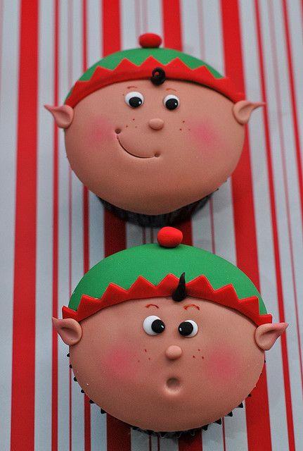 #Christmas #Elf #Cupcakes ~ #Holiday #Xmas #Party