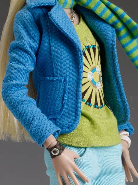 #pinned #dollchat ^kv Penelope Brewster, Around Town closeup shot on her fashion from our Deja Vu Collection Fall Release 2013.