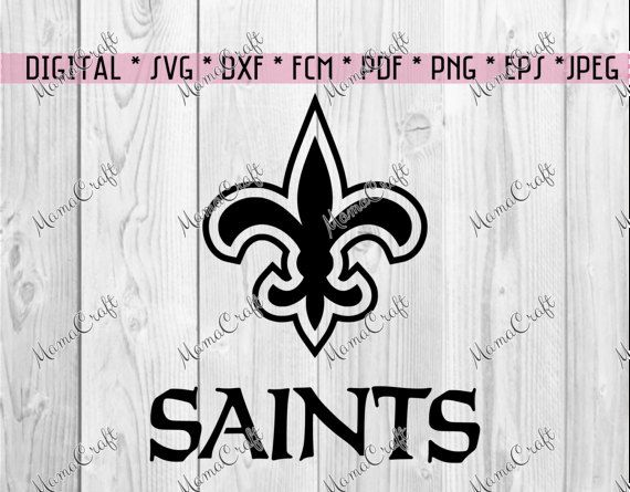 SVG SAINTS New ORLEANS logo falcon digital vector by MamaCraft4You