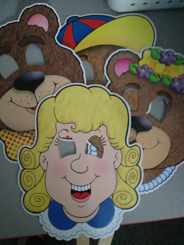 Goldilocks and the Three Bears Story Masks