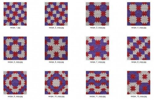 Rapid Fire Hunter's Star quilt layouts