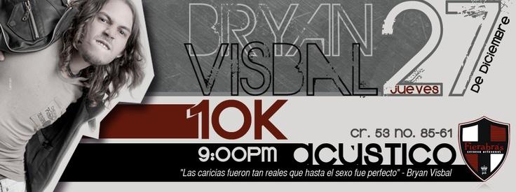 Diseño Portada Facebook para Fierabras Pub, evento Bryan Visbal - Noviembre de 2012 - Barranquilla, Colombia - Diseñadas por Lemon   Agencia de Medios y Publicidad. www.agencialemon.com — en Barranquilla- Atlantico, Colombia.