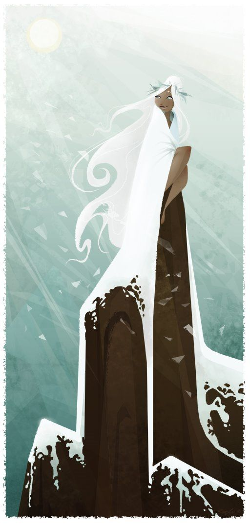 """Poliahu"" by Brittney Lee (In Hawaiian mythology, Poliʻahu is one of the four goddesses of snow, all enemies of Pele. She was thought to reside on Mauna Kea, which if measured from the seafloor is the world's tallest mountain-wiki)"