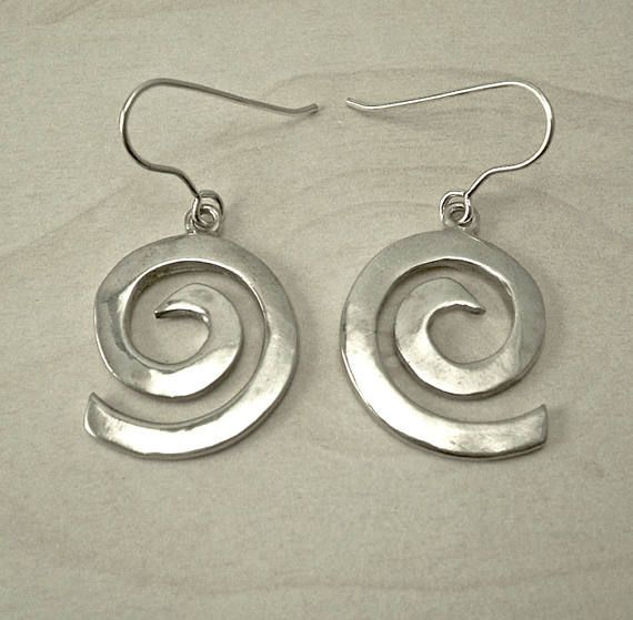 Silver drop earringssilver dangle earringssilver hoop