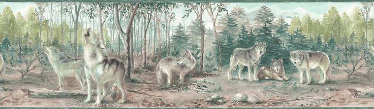 wolf wallpaper border Wolf+wallpaper+border Wall