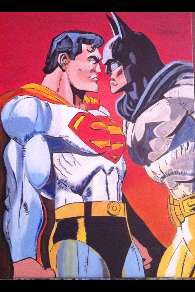Batman versus Superman. Acrilico . Mandif