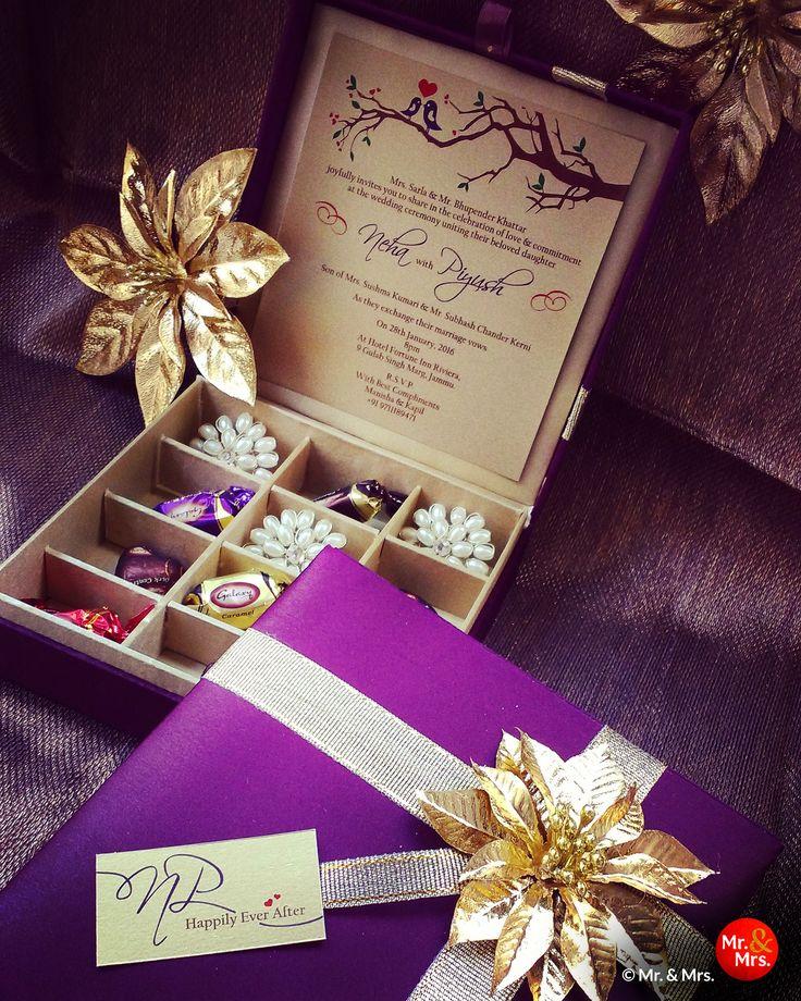 silk box wedding invitations indian%0A Chocolate Box Gift Box Wedding Invitation by mrandmrskishaadi