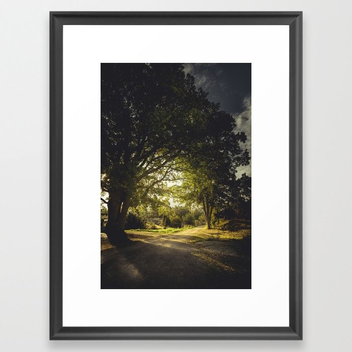 On the road again Framed Art Print by HappyMelvin | Society6