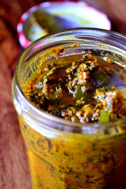 Mango Pickle - Great for an Indian Curry - frugal feeding
