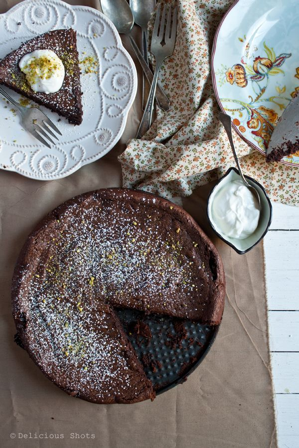 Flourless chocolate cake. Could probably be made keto-friendly by substituting sweetener for the sugar