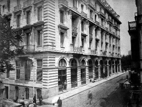 Sultan II.Abdülhamid fotoğraf arşivinden İstanbul'da hayat..Pera Palas Oteli, 1897 Beyoğlu