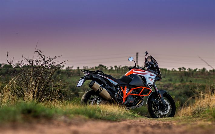 Download wallpapers KTM 1290, Super Adventure S, 2018, 4k, cross-country motorcycle, KTM