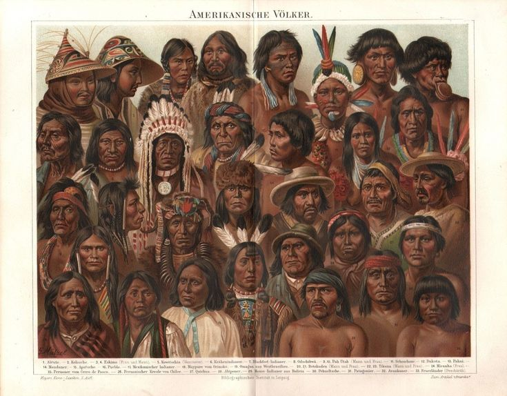 Nuggasak and Tiggianiak are in the top row, #3 and 4 from the left. Amerikanische Völker Indianer Native Völkertypen Eskimo LITHOGRAPHIE um 1896.