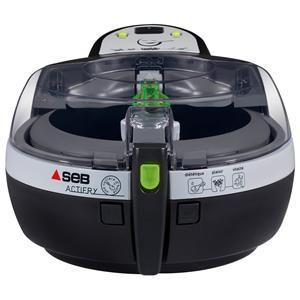SEB - GH8062 _ Friteuse 1.2 kg Noir gris - Actifry - Vous permettra de faire frire jusqu'à 1,2 kg de frites fraîches à 3 % de matières grasses - Poignée monte et baisse - Multi-recettes : poêlée de légumes, émincé de volaille, soupe de fruits ... - Couvercle transparent et parois froides - Cuve aluminium avec revêtement céramique et pale amovibles anti-adhésive - Compatible lave-vaisselle pour faciliter le nettoyage - Ouverture automatique - Minuterie -