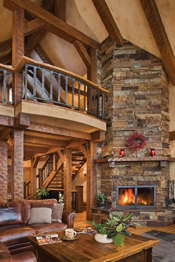 great rooms with fireplaces | Spaces » Great Rooms » Sandpoint Great Room Fireplace