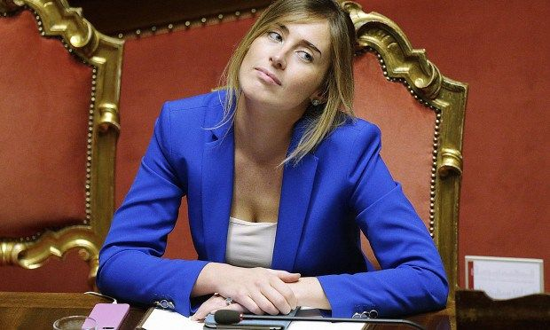 MariaElena Boschi pushes Renzi  in the wrong direction http://freewordandfriendsworld.com/2016/01/11/the-bitch-thats-ruining-matteo-renzi/