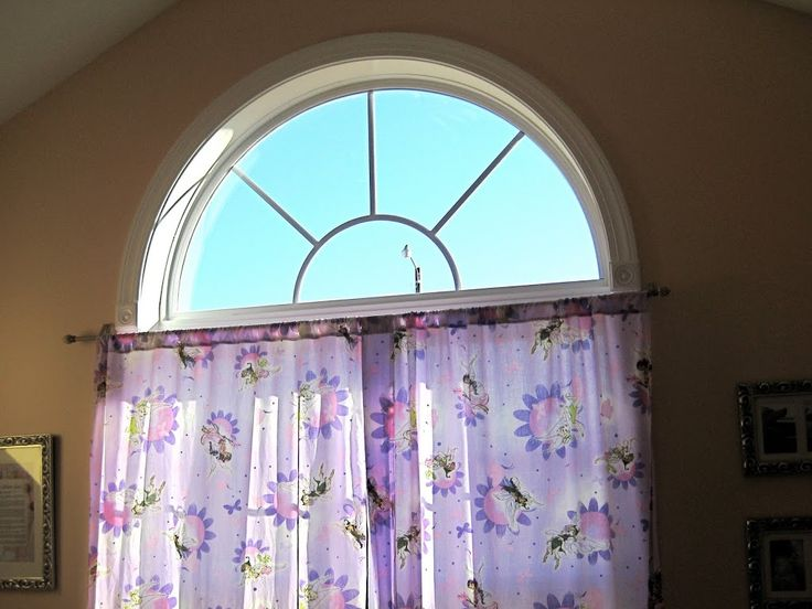 In Our House The Baby Has The Prettiest Room She Has A Huge Vaulted Ceiling Half Circle Windowarch Windowswindow Coveringswindow
