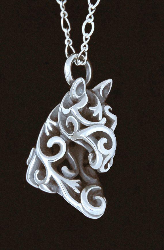 Filigree Horse Head by JeniBenos on Etsy