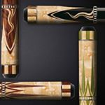 """9 Likes, 1 Comments - Weilu cue (@billiardsnooker88) on Instagram: """"ECLAT LPZ-18A pool cue FOR SALE with real lizard leather and turquoise stone engraved and embedded…"""""""