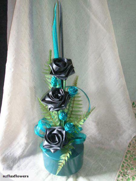 Stunning Flax Tea Roses© & Flax Flower Arrangement | Trade Me  Designer: Flax Bouquets©2016