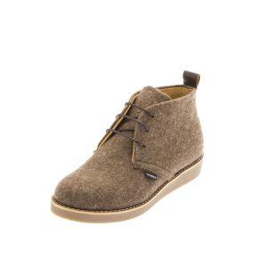 Women's Flat Shoes Brown-- Wool Felt Shoes