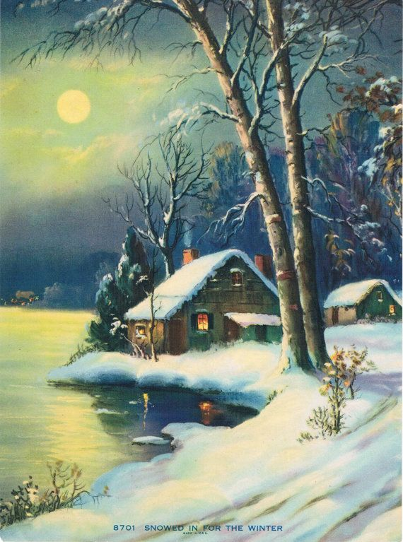 Snowed in for the Winter Calendar Art Print by RedfordRetro, $10.00