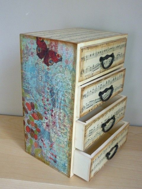 I really like this jewelry box. Maybe I'll buy a plain one and decoupage it with some really cool designs...hmmm