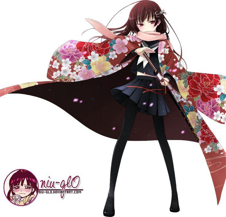 Anime girl 2 render by niugl0 nekomangaanimestuff