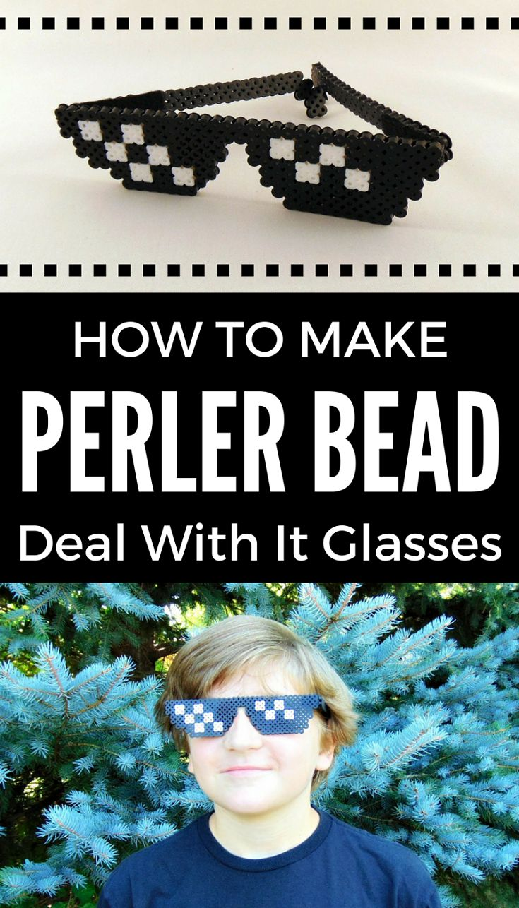 Perler Bead Deal with it glasses