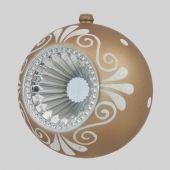 80mm Ornate Matt Bronze w/ Silver Reflector and white glitter detail Code: BADE008REFL