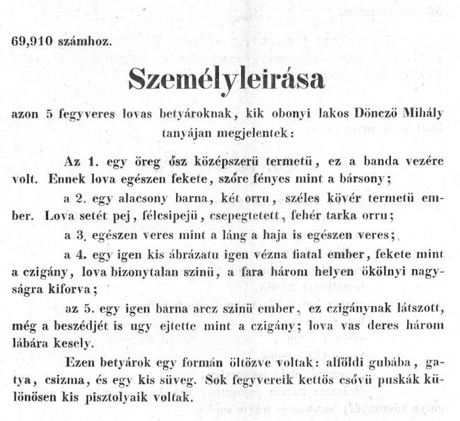 A magyar vadnyugaton kiragasztott személyleírások sokkal irodalmibbak voltak amerikai társaiknál