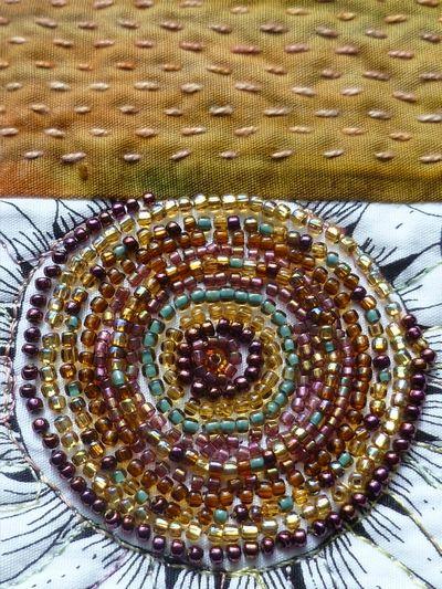 The Colours of Alba, detail by Frieda Oxenham. Bernina September 2012 calendar.