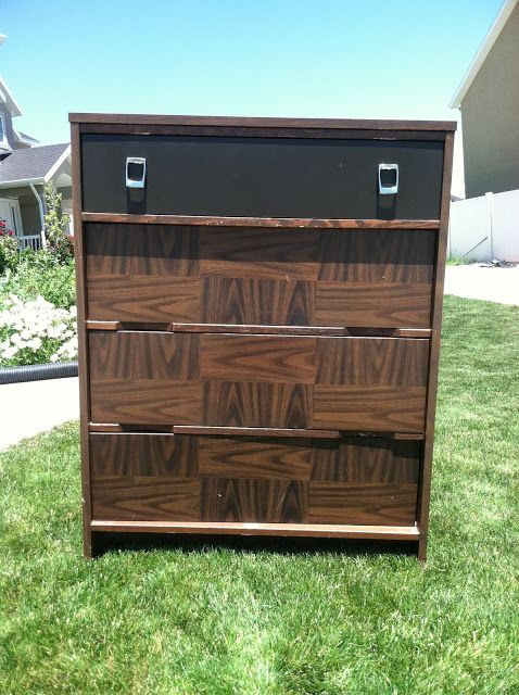 Just What I {squeeze} In: The Worldu0027s Ugliest Dresser How To Paint Laminate