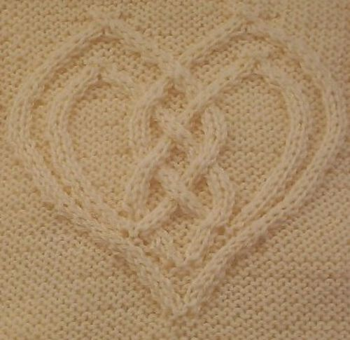 Ravelry: Cabled Heart pattern by Devorgilla's Knitting