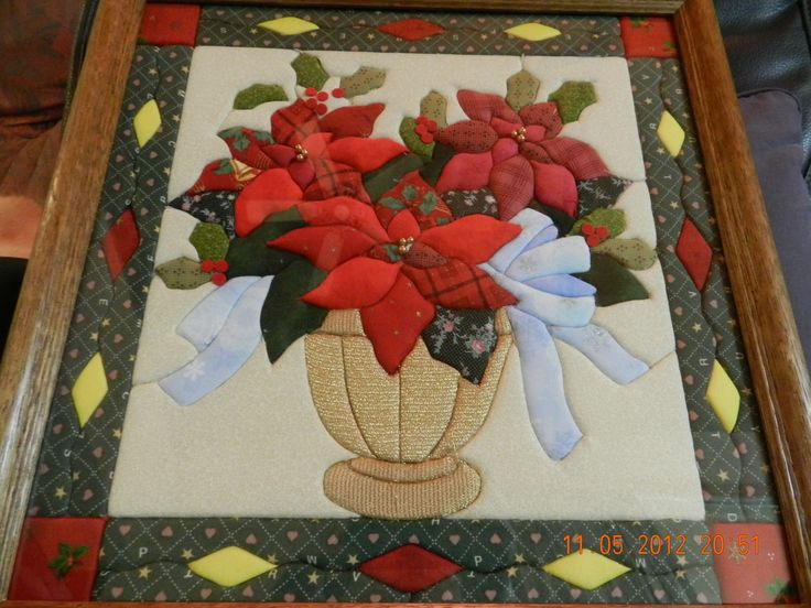 Poinsettia in cloth