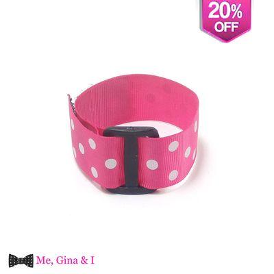 Pink dot bracelet