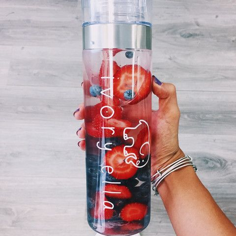 White Ella Water Bottle
