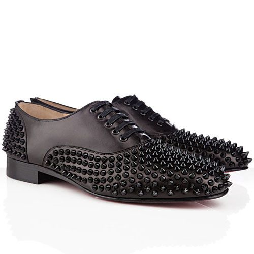 Black Christian Louboutin Freddy Loafers Flat Patent Leather