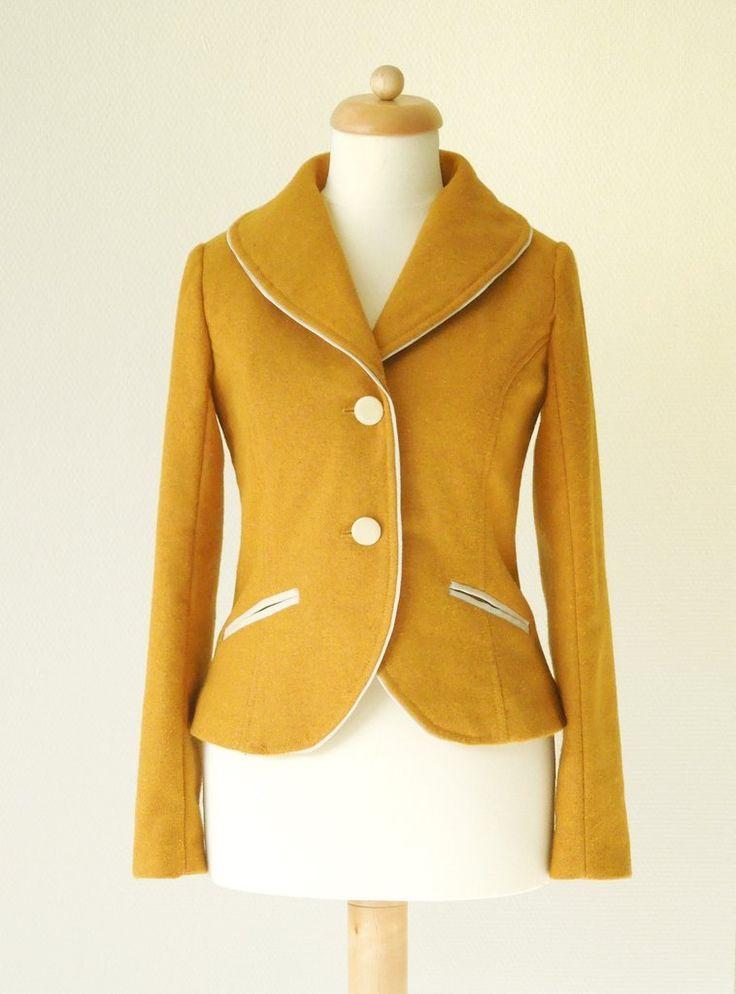 Waffle Patterns sewing patterns Shawl collar jacket / blazer