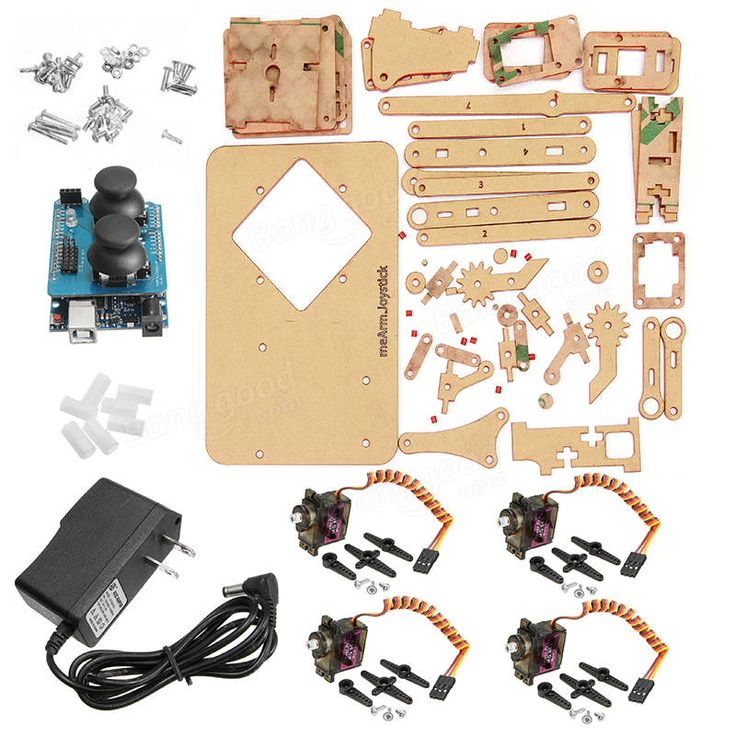 Mearm DIY 4DOF Arduino Robot Arm 4 Axis Rotating Kit With Joystick Button Controller 4pcs Servo Sale - Banggood.com