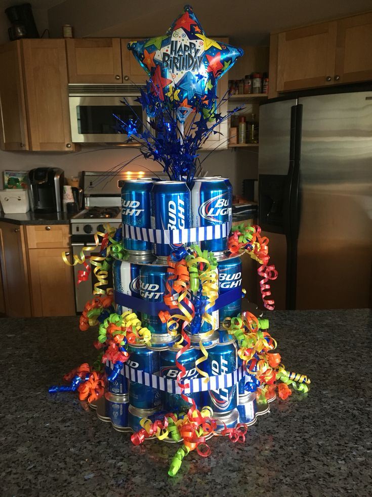 Beer can cake @wandafeeney and I made for Chris's 21st