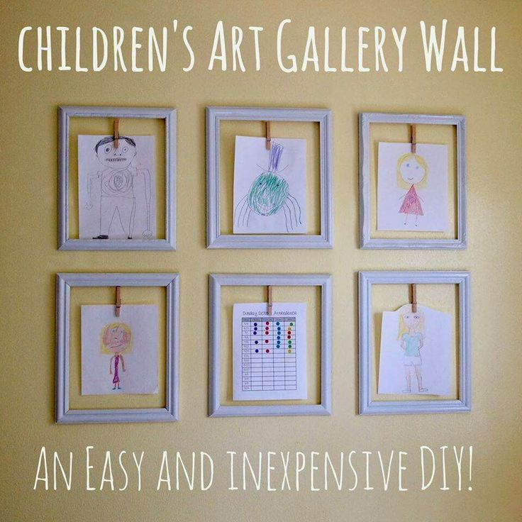 LOVE this idea!   http://www.catheywithane.com/2013/10/diy-childrens-art-gallery-wall.html