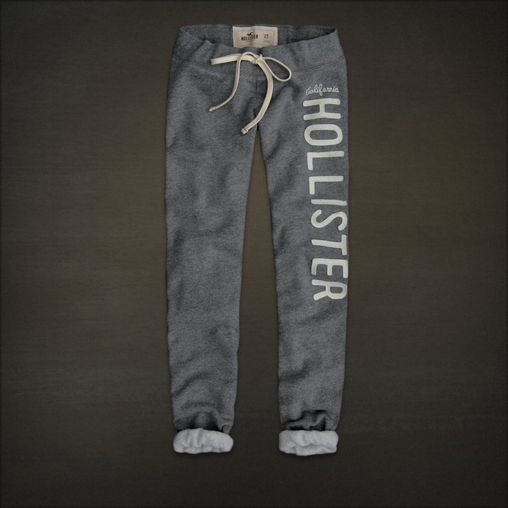 Hollister sweatpants. So comfy.
