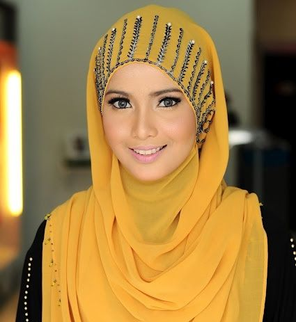 yellow hijab with different outfits (2)