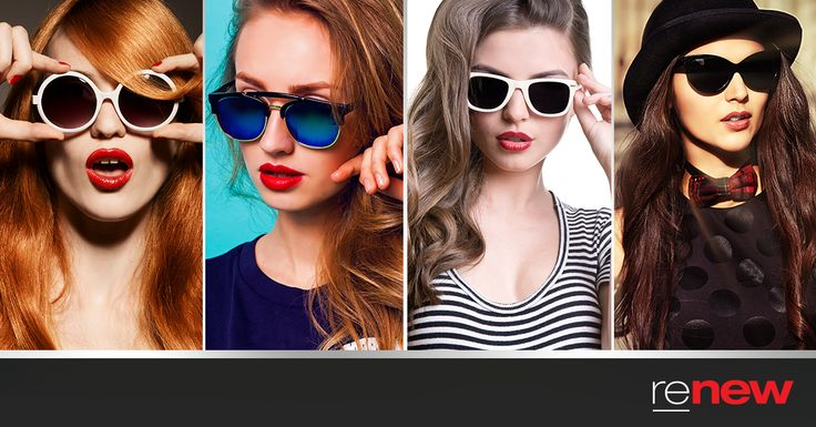 It may be winter, but that doesn't mean the sun isn't going to come out to play. Keep the bright winter sun at bay with these stylish sunglasses.  1) Round Retro '60s/'70s Sunglasses 2) Semi-Rim Sunglasses 3) Oversized square Sunglasses 4) Butterfly/Cat-Eye Sunglasses