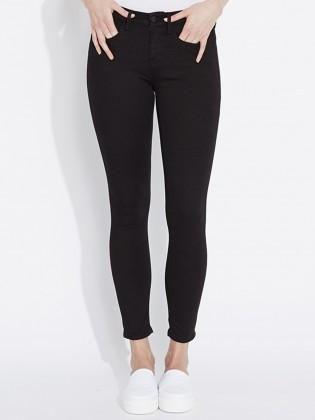 Waven - Womens Freya Skinny Ankle Grazer Jeans True Black