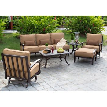 madison 6piece patio deep seating collection outdoor furniture - Costco Patio Furniture